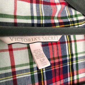 Victoria's Secret Intimates & Sleepwear - Victoria's Secret Red and Blue Plaid Sleep Shirt